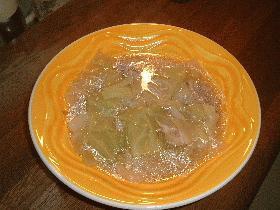 あっという間にできちゃうキャベツのスープ
