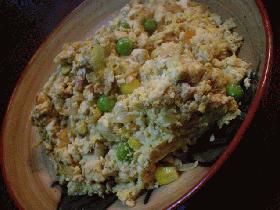 カレー味の炒り豆腐
