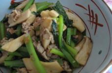 エリンギと小松菜炒め