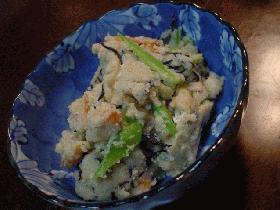 味噌風味のおからの炒り煮