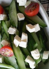 きゅうり消費☆クリームチーズonサラダ