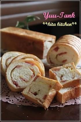 ベーコン&チーズ入りロング・ミニ食パン❤