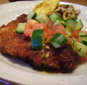 鶏むね肉のミラノ風カツレツ