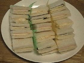 海苔&チーズのサンドイッチ