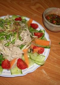 栄養満点!野菜たっぷり冷しゃぶサラダ
