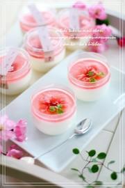 ❀桜・香味❀ヨーグルトみるくプリンの写真