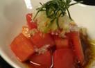 夏色 トマトの和風サラダ