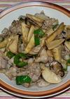 豚バラ肉とタケノコの甘辛炒め