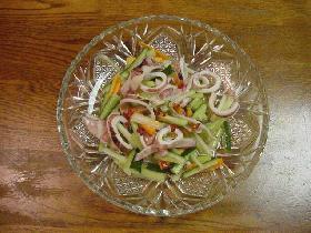 タイの家庭料理☆イカとセロリのサラダ☆