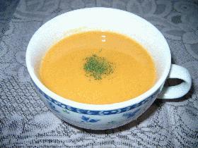 人参とカボチャのスープ