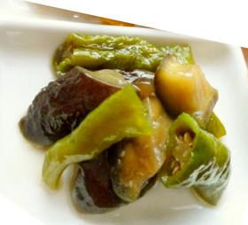 茄子と甘長唐辛子の炒め煮