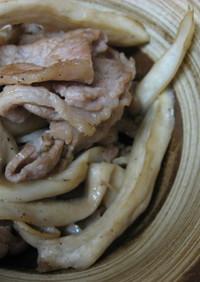 エリンギと豚肉の炒めもの