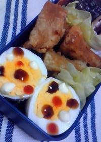 お弁当に☆トリプル水玉ゆで卵♪