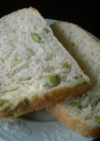 HBで枝豆&チーズの食パン♪
