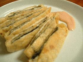 海苔とチーズとアーモンドの油揚げはさみ焼き