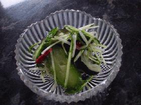 水菜・茄子・胡瓜の簡単浅漬け