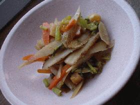 新ゴボウといろいろ野菜の味噌炒め煮
