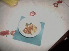 甘辛味のエビと野菜