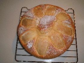 林檎のシンプルケーキ