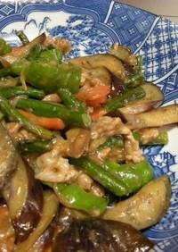 ありあわせ野菜の中華風味噌炒め