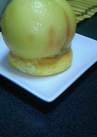 ♪今が旬♪ まるごと桃のケーキ