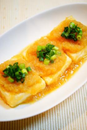 ✿おろしポン酢でさっぱり☆豆腐ステーキ✿