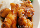 鶏手羽のオニオンソース煮込み