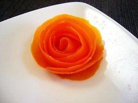 トマトで簡単!バラの花♪