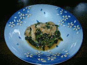 小松菜とアゲの煮びたし