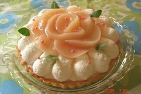 ✤桃のチーズタルト✤(チーズケーキ)
