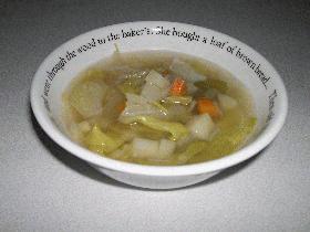 キャベツの和風スープ