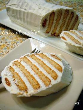 ☆オーブン不要のビスケットケーキ☆