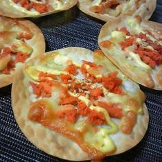 パリパリ!鮭のおつまみピザ