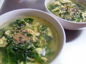 キャベツの外葉で焼肉屋さんぽいスープ