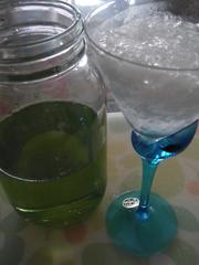 手作りかき氷シロップ(メロン編)の写真