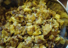 インド料理カリフラワー炒め(アルーゴビ)
