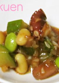 。。豆・たこ・ズッキーニのマリネ。。
