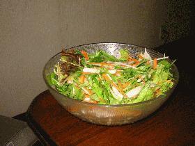 みず菜と大根のしゃきしゃきサラダ