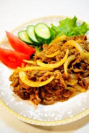 ✿牛肉と玉ねぎのカレーケチャップ炒め✿の写真