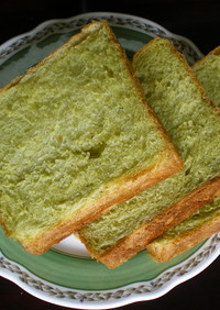HBで「ほうれん草のノンオイル食パン」♪
