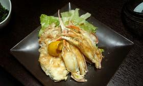 ずわい蟹のバター醤油焼き