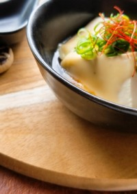 とろ~りチーズ焼き肉味の温豆腐