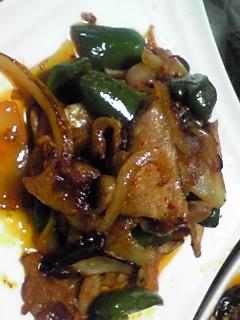 豚肉とピーマンの豆板醤炒め