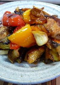 ビストロ☆グリル野菜とから揚げの甘酢♪