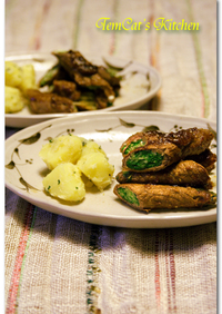 水菜のビーフロール