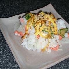 鮭と蓮根のさっぱり寿司