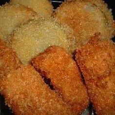 白身魚と玉葱の揚げ物