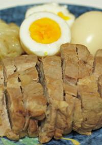 トロトロ煮豚+ラーメン屋の煮卵