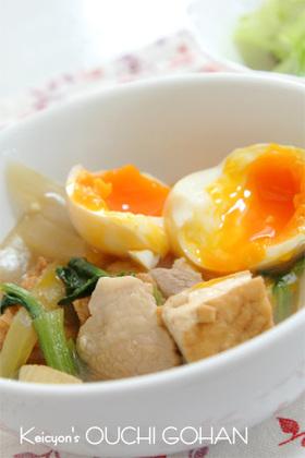 厚揚げとトロ~リ半熟卵の煮物