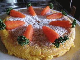 カスピ海ヨーグルトが入った、にんじんケーキ